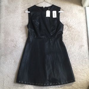 NEW Forever21 Black faux leather dress S